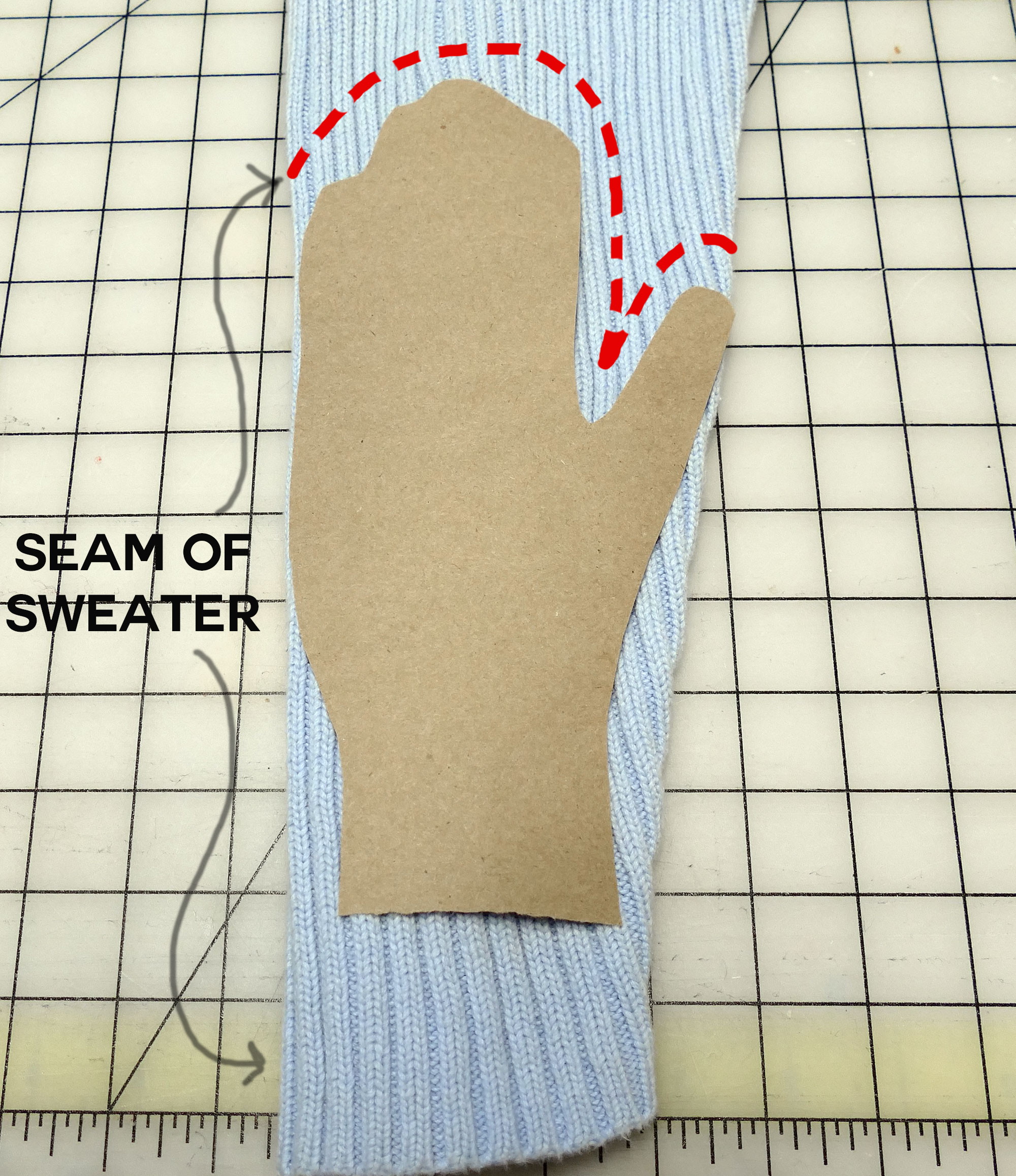 diy sweater hat gloves scarf upcycle jennifer maker. Black Bedroom Furniture Sets. Home Design Ideas