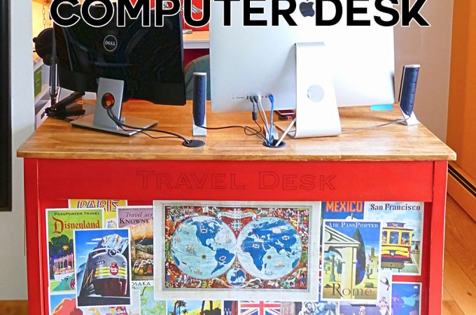 DIY Upcycled Computer Desk | JenuineMom.com