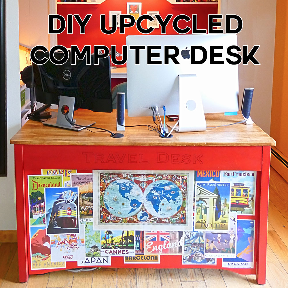 DIY Upcycled Computer Desk | JenuineMom.com