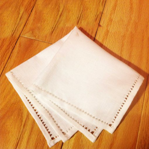 DIY Hand Hemstitched Handkerchief | Drawn Thread Work | JenuineMom.com
