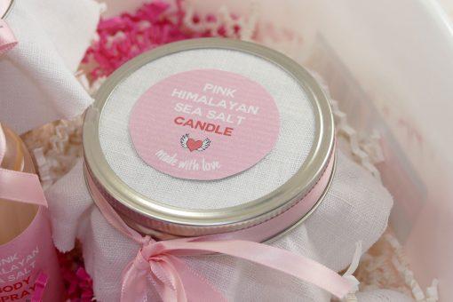 DIY Pink Himalayan Salt Spa Candle | JenuineMom.com