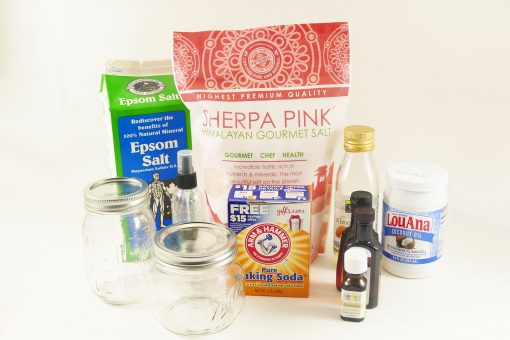 DIY Pink Himalayan Salt Spa | Bath Salts | Foot Scrub | Body Spray | Aromatherapy Candle | JenuineMom.com