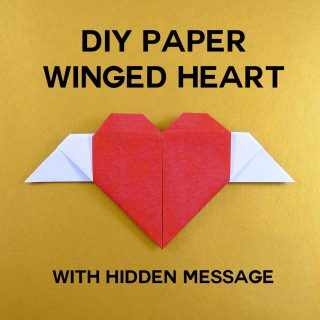 DIY Paper Winged Heart with Hidden Message | JenuineMom.com