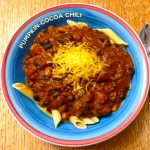 Pumpkin-Cocoa Chili Recipe | Healthy | Weight Watchers Simply Filling | JenuineMom.com