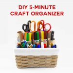 DIY Craft Organizer for Markers Brushes | JenuineMom.com