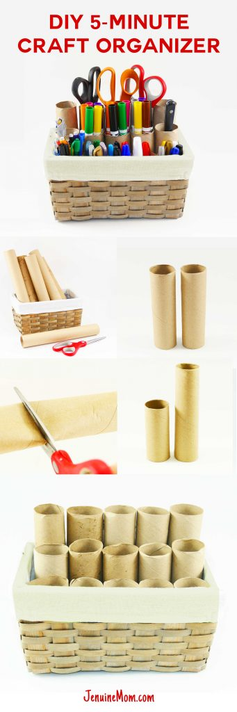 DIY Craft Organizer for Markers Brushes | JenuineMom.com