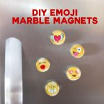DIY Marble Magnets Emoji | Easy Glass Mod Podge Craft | JenuineMom.com