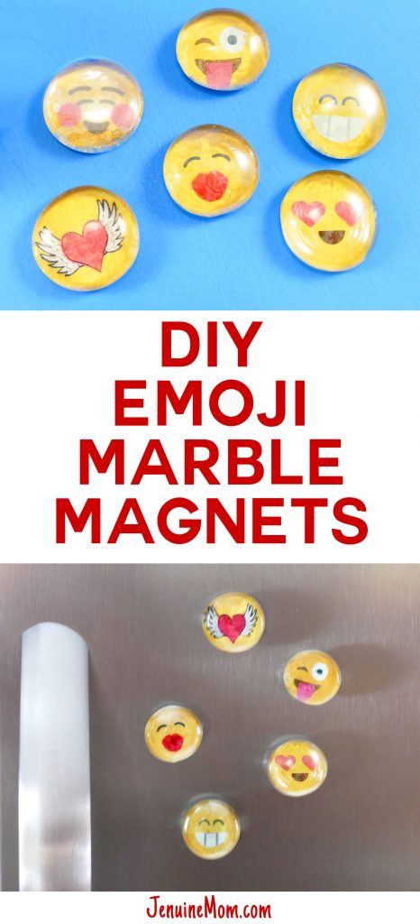 DIY Marble Magnets Emoji   Easy Glass Mod Podge Craft   JenuineMom.com