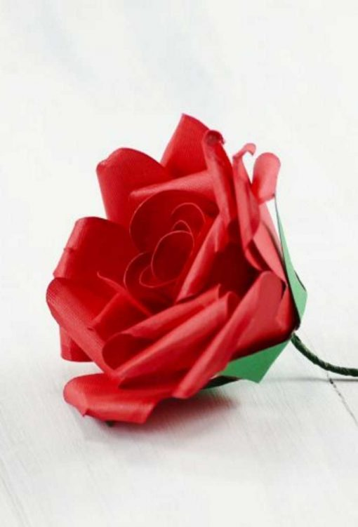 DIY Paper Rose Tutorial | Rolled Spiral Rose | Realistic Petals | DIY Paper Flowers