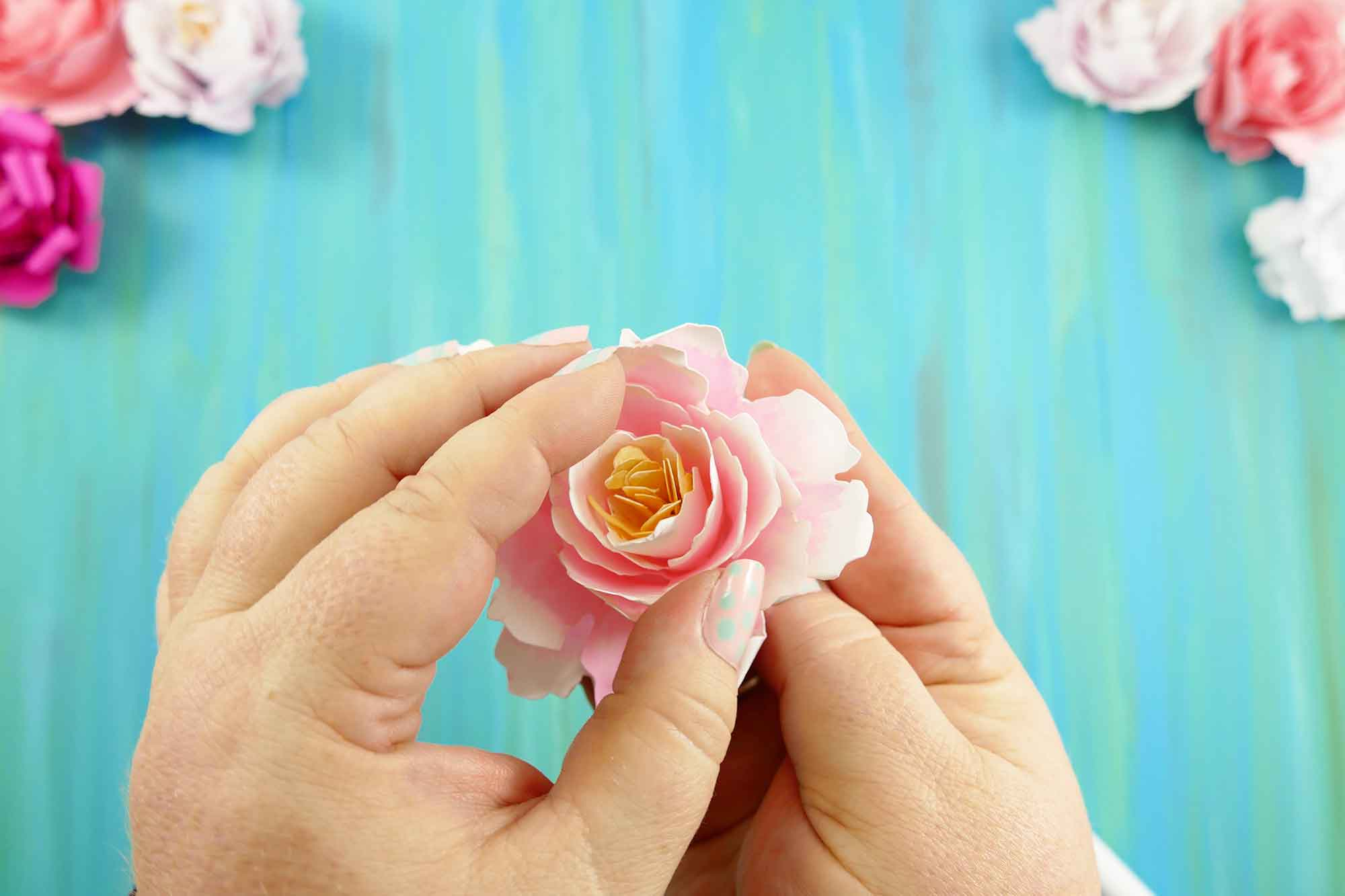 Paper quilling rose flower making flowers healthy cool rolled paper peony flower quilled flower with 33 amazing how to make paper quilling rose mightylinksfo