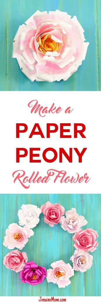 Rolled Paper Peony Flower   Quilled Flower   JenuineMom.com