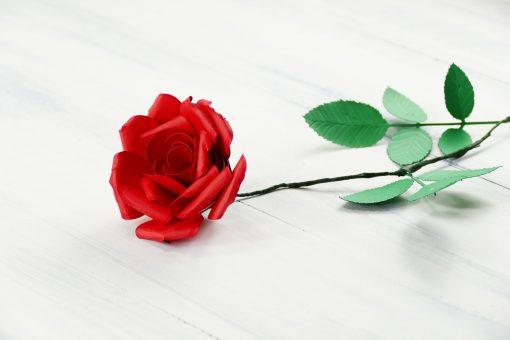Rolled Paper Rose Flower   Quilled Flower   JenuineMom.com