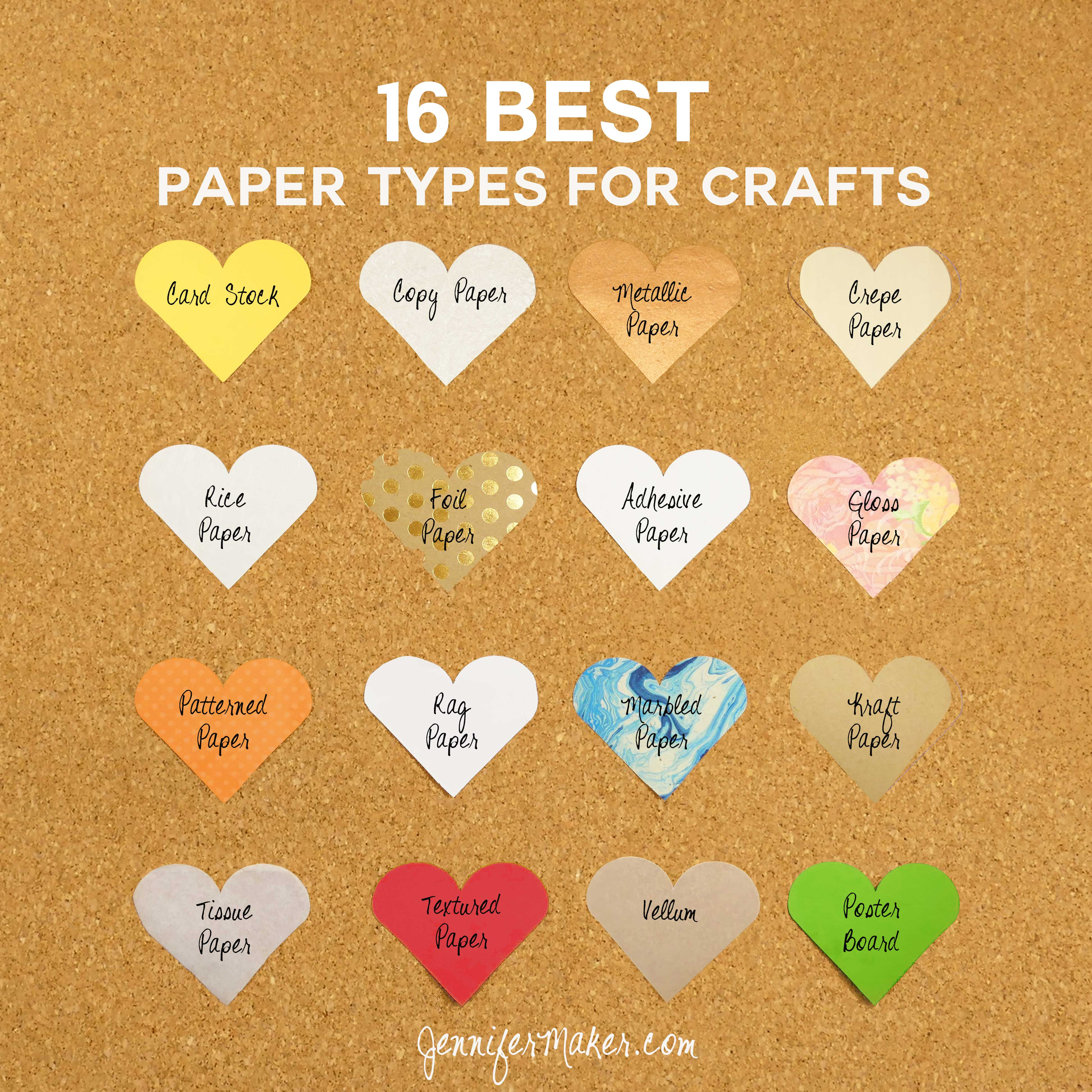 16 Best Paper Types for Every Craft | JenniferMaker.com