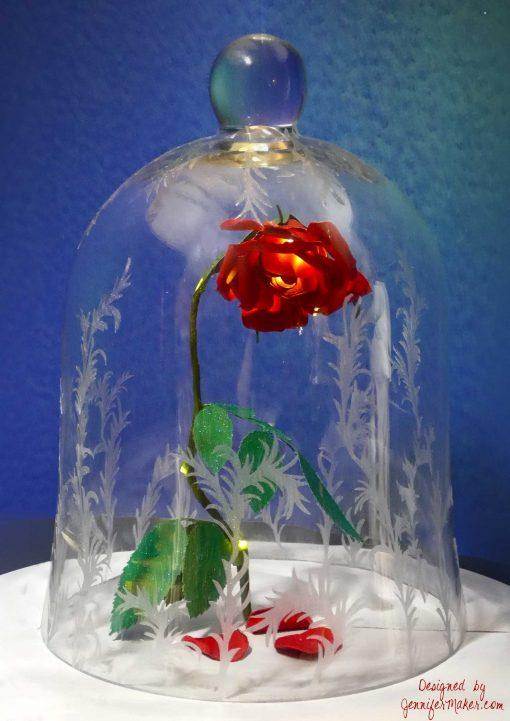 Diy enchanted rose from beauty the beast jennifer maker