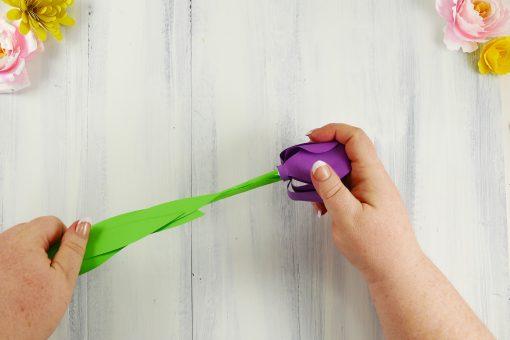 Paper Tulip | Rolled Flower | Quilling | JenniferMaker.com