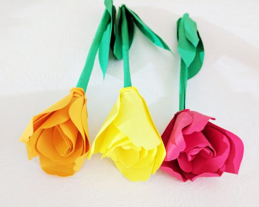 Paper Tulips designed by Jennifer Marx made by reader Amruta Tengase