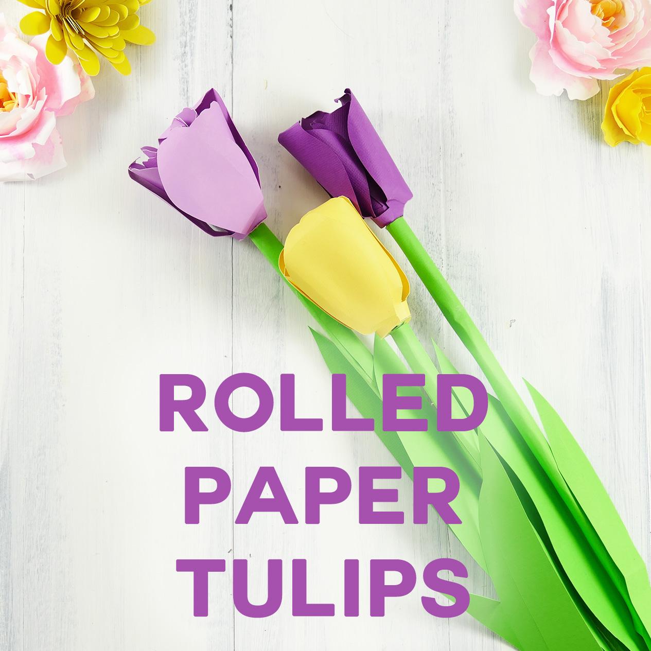 Make a paper tulip bring spring to your home jennifer maker paper tulip rolled flower quilling jennifermaker dhlflorist Image collections
