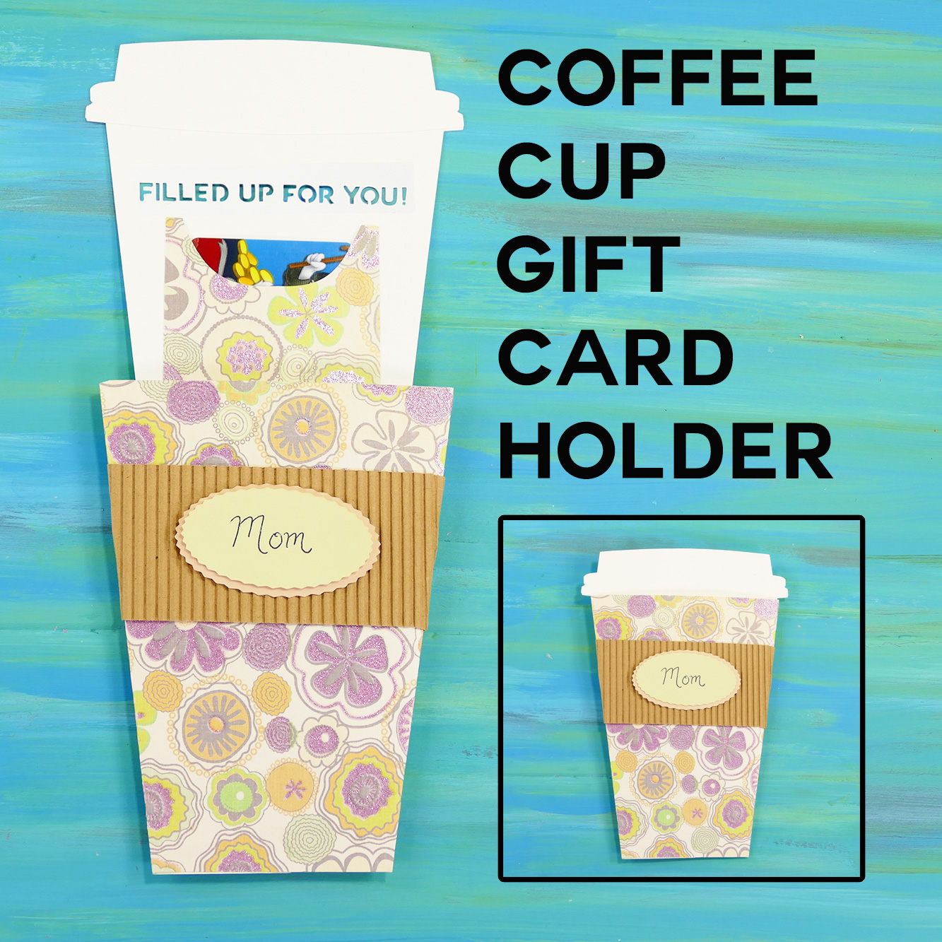 Take-Out Coffee Cup Gift Card Holder | JenniferMaker.com