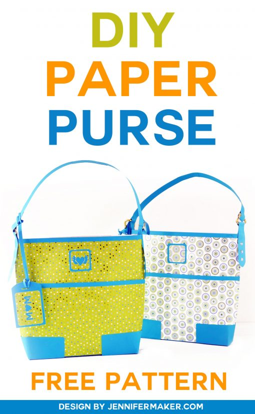 Make this cute Paper Purse Gift Bag - Tutorial & SVG File | JenniferMaker.com