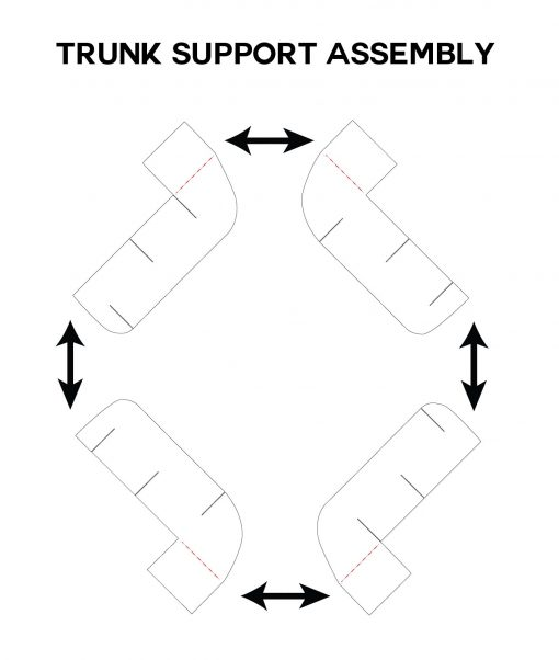 Trunk Support Assembly for the Pop Up Apple Tree Card