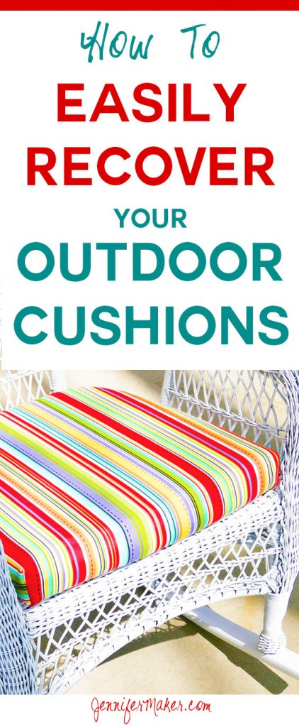 Recover Cushions for Outdoor Furniture Quickly and Easily | How-To Tutorial