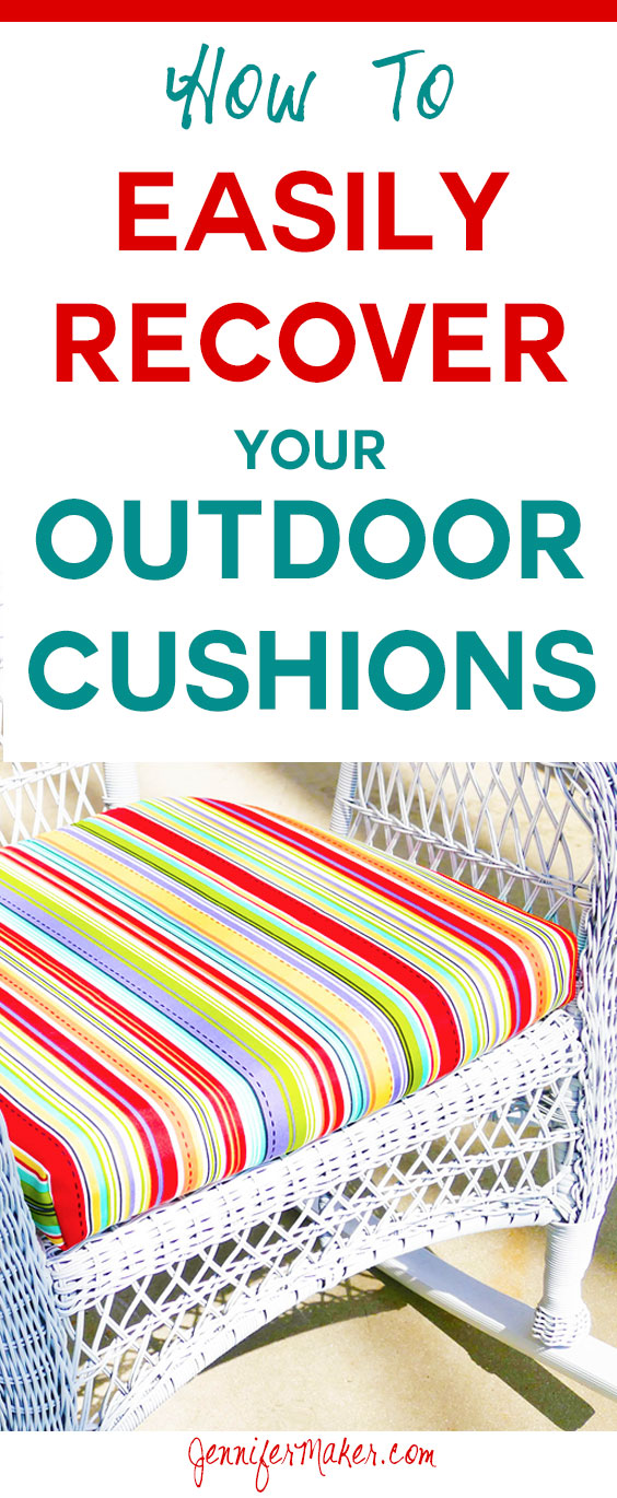Recover Your Cushions For Outdoor Furniture Quickly U0026 Easily! Sew And  No Sew Options