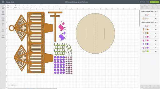 Free cut files for a pop-up birdcage
