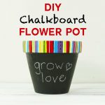 DIY Chalkboard Flower Pot with a Custom-Painted Rim