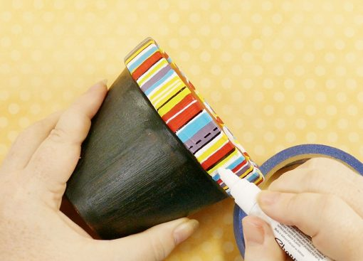 Use a Sharpie paint marker to detail your chalkboard flower pot