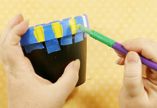 Paint the rim of your chalkboard flower pot