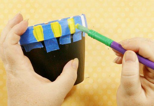 Paint the rim of your chalkboard flower pot