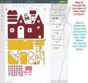 Uploading the SVG files to Cricut Design Space
