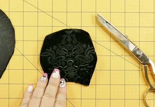Turn the fabric ear inside out for the DIY Mouse Ear