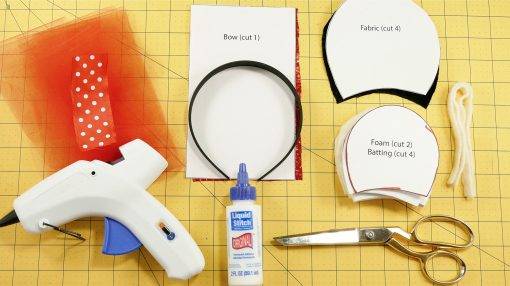 Materials Needed to make DIY Mickey Mouse Ears