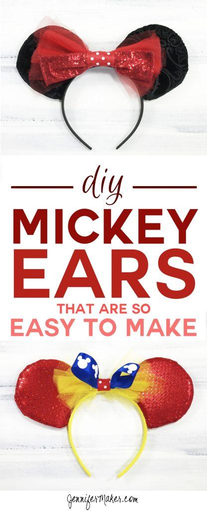 This DIY Mickey Ears tutorial is so easy to make! | Mickey Ears | DIY Disney Ears | How To Make a Mickey Ears Headband