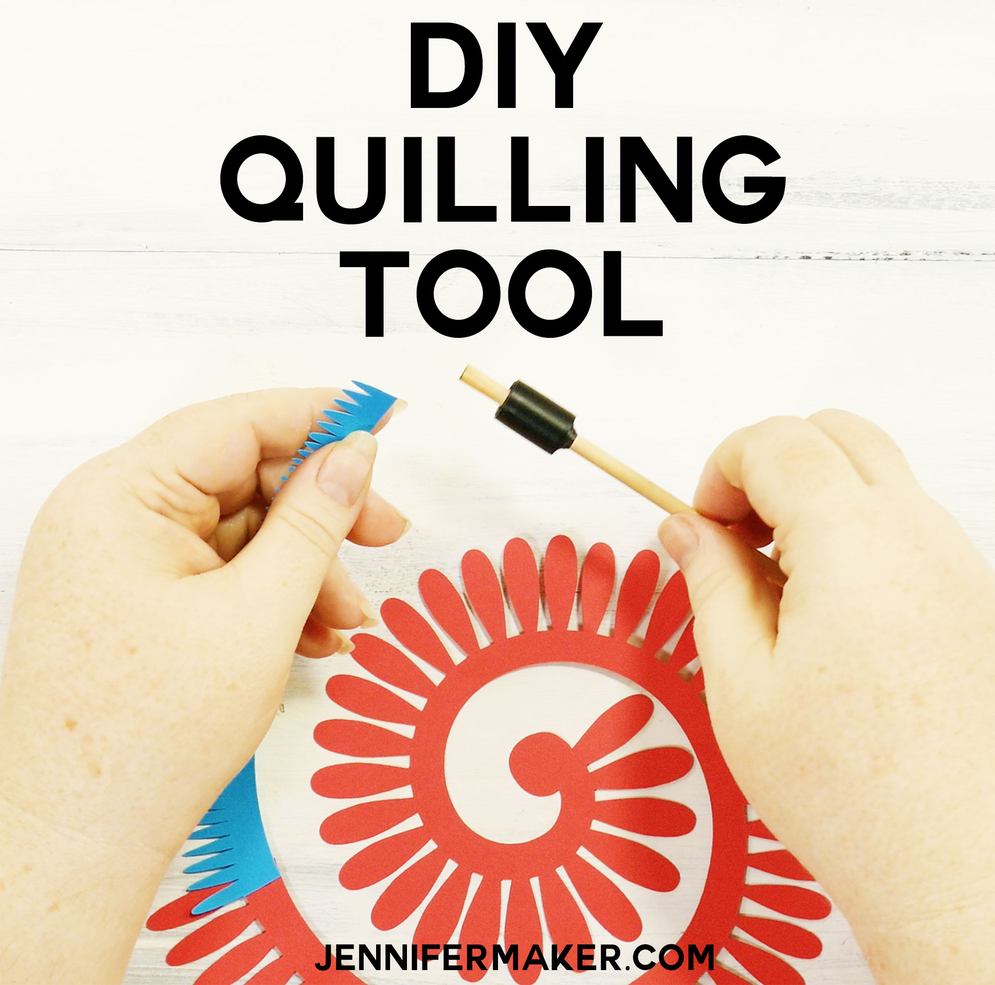 How to make your own diy quilling tool jennifer maker for How to make your own quilling paper