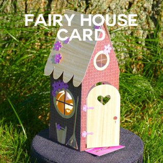 Make a Fairy House Card that mails flat, then pops up! Free SVG files.