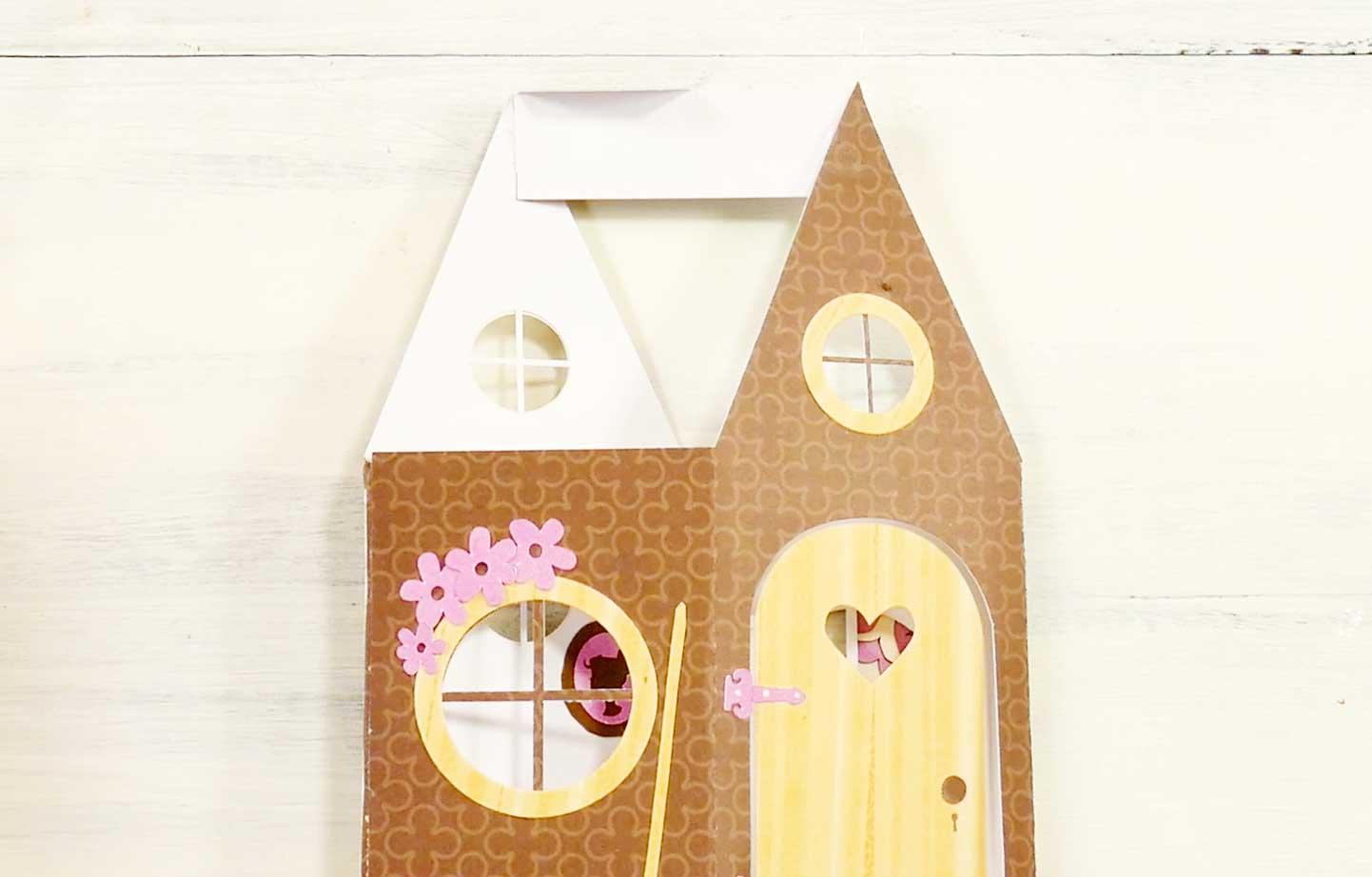 fairy house card pop up hinge glue jennifer maker. Black Bedroom Furniture Sets. Home Design Ideas