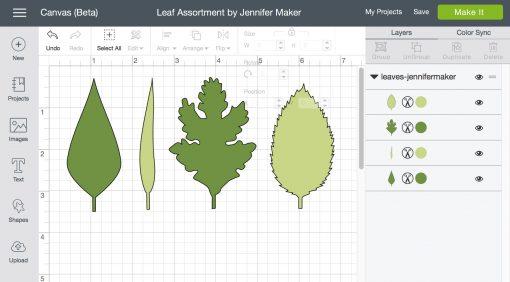 Leaf Assortment SVG File