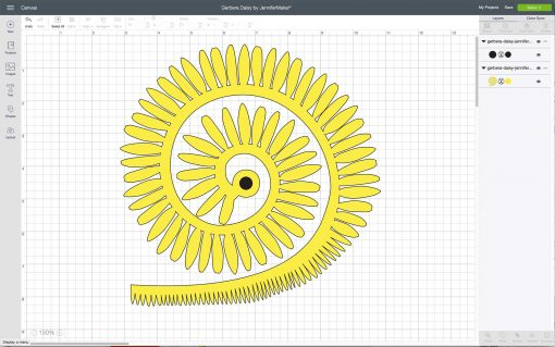 Uploading the Gerbera Daisy to Cricut Design Space