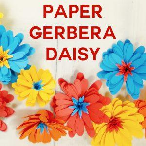 Paper Daisy | Gerbera | Rolled Flower | Cricut