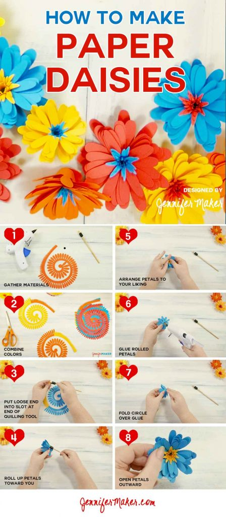 Paper Daisy Tutorial | Rolled Flower | Gerbera Daisy | Quilled Flower