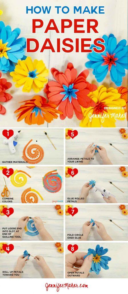 Paper Daisy Tutorial | Rolled Flower | Gerbera Daisy | Quilled Flower