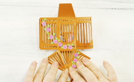 Glue the birdcage roof together flat