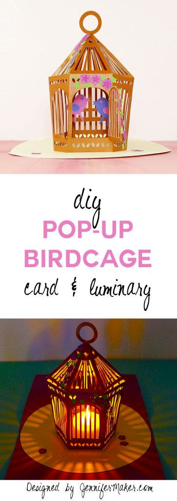 Make a pop-up birdcage card or luminary with free SVG files and a tutorial
