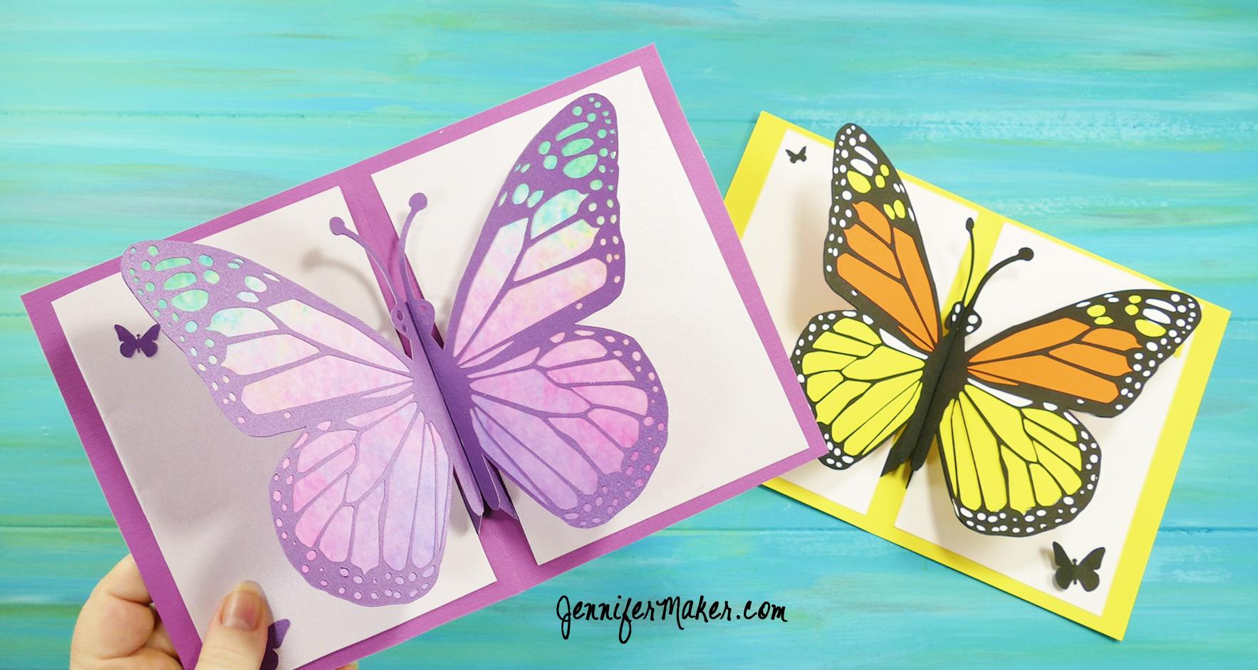 Pop Up Butterfly Card 13 Jennifer Maker