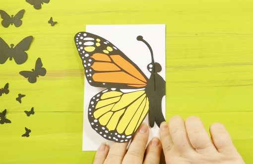 Folding the DIY Pop Up Butterfly Card