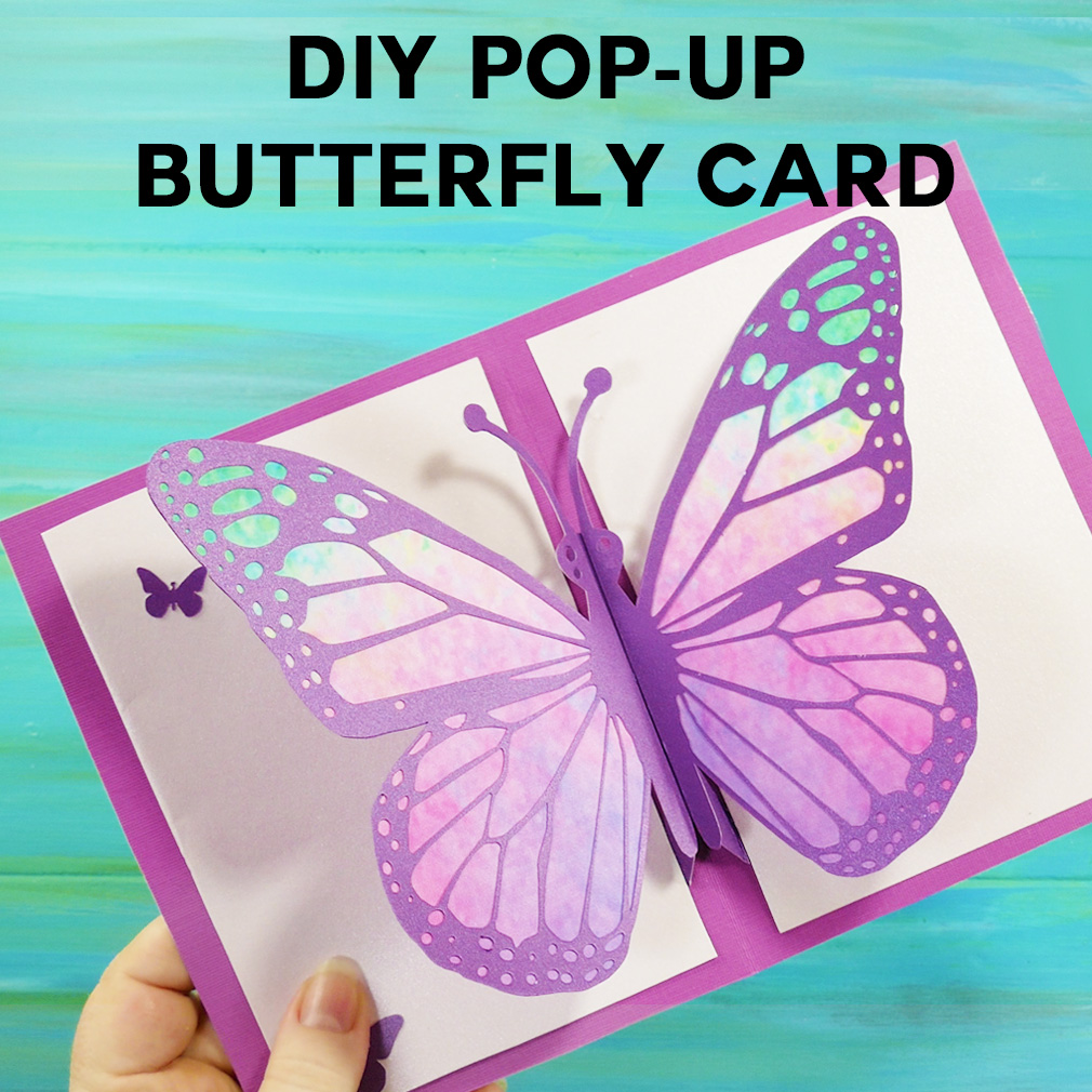 Diy Pop Up Butterfly Card Tutorial Easy 5 Quot X 7