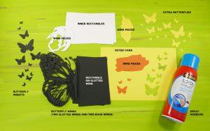 DIY Pop-Up Butterfly Card Materials