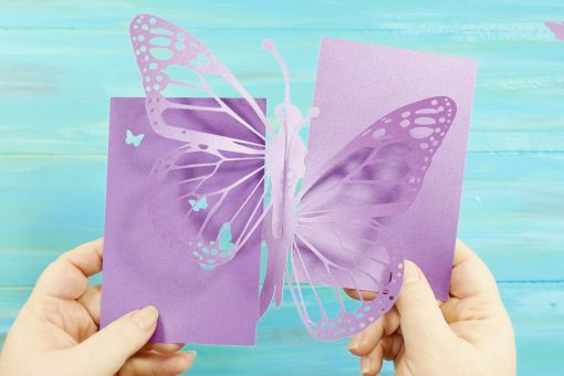 Slotting together the pieces of the Pop Up Butterfly Card